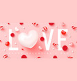 happy valentine s dayromantic composition vector image