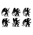 Heraldic griffins with raised paws vector image vector image