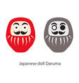 japanese daruma doll simple icon stylized one vector image vector image