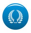 laurel wreath icon blue vector image
