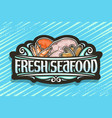 logo for fresh seafood vector image