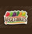 logo for fresh vegetables vector image vector image
