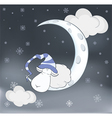 Lovely lamb and a moon Cartoon vector image vector image