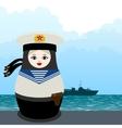 Matryoshka military seaman vector image vector image