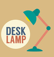Modern Design Desk Lamp vector image