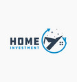 modern residential investment logo vector image vector image