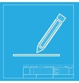 Pencil sign White section of icon on vector image vector image