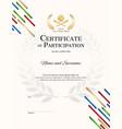 portrait certificate template in baseball sport vector image vector image