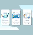 radio online mobile app onboarding screens vector image vector image