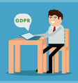 receiving a gdpr message vector image