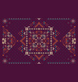 rectangular bandana print design for rug carpet vector image vector image