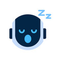 robot face icon napping tired face emotion robotic vector image vector image