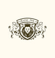 royal ink lion logo vector image