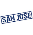 San Jose blue square stamp vector image vector image