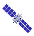 satellite flat style isolated space objects on a vector image