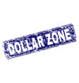 scratched dollar zone framed rounded rectangle vector image vector image