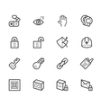 security element icon set on white background vector image vector image