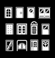 Set icons of doors vector image vector image