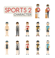 Set of cartoon sport characters eps10 for vector image vector image
