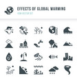 set of global warming icons natural disasters vector image