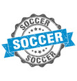 Soccer stamp sign seal