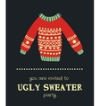 sweater invitation 5 vector image vector image