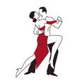 tango ballroom dancers vector image