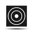 target black flat vector image vector image