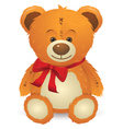 Teddy Bear with Red Bow vector image vector image