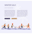 web banner design template for christmas sale vector image