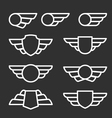 Winged badges and emblems in simple style vector image vector image