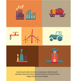 with industrial element vector image vector image