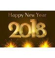 happy new year 2018 placard vector image