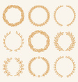 set of linear wreaths vector image