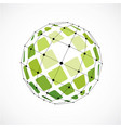 3d digital wireframe spherical object made using vector image vector image