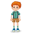 A young boy with a curly hair vector image vector image