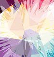 Abstract colorful triangle geometrical background vector image