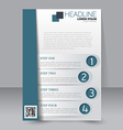 Abstract flyer design template vector image vector image