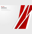 abstract of futuristic gradient red paper cut vector image