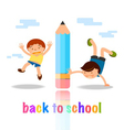 back to school cartoon concept vector image vector image