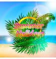 beach sea sky summer sun vector image vector image