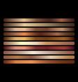bronze metallic gradient set vector image vector image