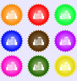 Buildings icon sign Big set of colorful diverse vector image vector image
