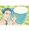 Business man with okay gesture vector image vector image