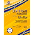 Certificate template diploma layout vector image