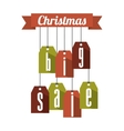 christmas big sale tags vector image