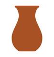 clay jug flat isolated vector image vector image