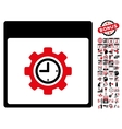 Clock Configuration Gear Calendar Page Flat vector image vector image