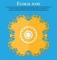 cogwheel Floral flat design on a blue abstract vector image vector image