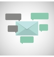 concept email message chat icon vector image vector image